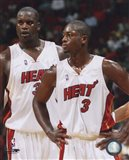 Shaquille O'Neal / Dwyane Wade - Heat - Group Shot