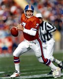John Elway Orange Uniform Action