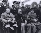 Winston Churchill, Franklin D. Roosevelt and Joseph Stalin at Yalta in 1945. (#6)