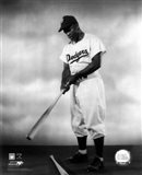1948 - Jackie Robinson Pose With Bat