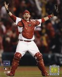 Yadier Molina - Celebrates Winning 2006 World Series