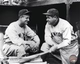 Lou Gehrig & Babe Ruth Posed