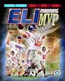Eli Manning SuperBowl XLII MVP Portrait Plus