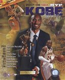 Kobe Bryant 2008 MVP Portrait Plus; LA Lakers
