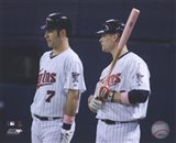 Joe Mauer & Justin Morneau 2008 Group Shot