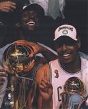 Kevin Garnett & Paul Pierce, Game Six of the 2008 NBA Finals With Trophies; Celebration #31