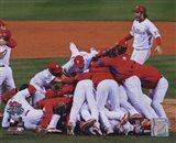 2008 Philadelphia Phillies World Series Champions Team Celebration Horizontal