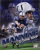 Peyton Manning 3 X MVP Portrait Plus