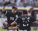 Mark Buehrle '09 Perfect Game celebration w/ Castro