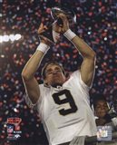 Drew Brees with the Vince Lombardi Trophy Super Bowl XLIV (#25)