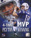 Peyton Manning 4 X MVP Portrait Plus
