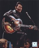 Elvis Presley Wearing Black Leather Jacket (#4)