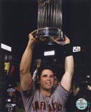 Buster Posey With World Series Trophy Game Five of the 2010 World Series