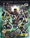 Green Bay Packers Super Bowl XLV Champions PF Gold Composite