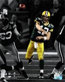 Aaron Rodgers Spotlight Action from Super Bowl XLV
