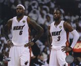 Lebron James & Dwyane Wade Game 2 of the 2011 NBA Finals Action(#10)