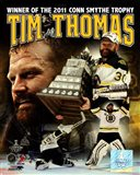 Tim Thomas 2011 NHL Stanley Cup Finals Conn Smythe Winner Portrait Plus - your walls, your style!