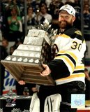 Tim Thomas with the Conn Smythe Trophy Game 7 of the 2011 NHL Stanley Cup Finals(#44) - your walls, your style!