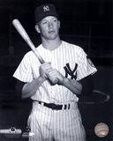Mickey Mantle Posed Black And White