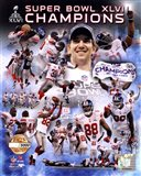 New York Giants Super Bowl XLVI Champions PF Gold - Hand Numbered Limited Edition.  8x10's 5000, Enlargements 500.