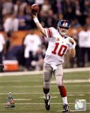 Eli Manning Super Bowl XLVI Action
