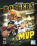 Aaron Rodgers 2011 NFL MVP Portrait Plus