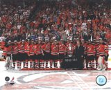 The New Jersey Devils with the Prince of Wales Trophy  after Winning the 2012 NHL Eastern Conference Finals - your walls, your style!