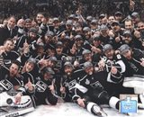 The Los Angeles Kings Team Celebration on ice after Winning Game 6 of the 2012 Stanley Cup Finals