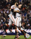 Buster Posey & Sergio Romo Celebrate Winning Game 4 of the 2012 World Series