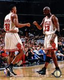 Michael Jordan & Scottie Pippen 1998 Action