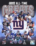New York Giants All-Time Greats Composite
