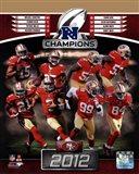 San Francisco 49ers 2012 NFC Champions Composite
