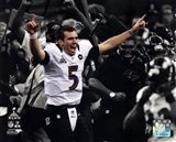 Joe Flacco Super Bowl XLVII Spotlight Celebration