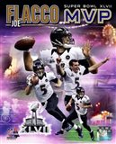 Joe Flacco Super Bowl XLVII MVP Portrait Plus