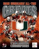 University of Miami Hurricanes All Time Greats Composite