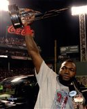 David Ortiz with the 2013 World Series MVP Trophy Game 6 of the 2013 World Series