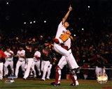 Koji Uehara & David Ross celebrate winning Game 6 of the 2013 World Series