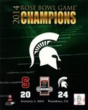Michigan State Spartans 2014 Rose Bowl Champions Logo