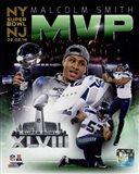 Malcolm Smith Super Bowl XLVIII MVP Portrait Plus
