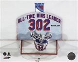 Henrik Lundqvist New York Rangers All-Time Wins Leader 302 Wins Overlay