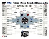 University of Connecticut Huskies 2014 NCAA Men's College Basketball National Champions Bracket