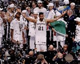 Tim Duncan Celebrates Winning Game 5 of the 2014 NBA Finals
