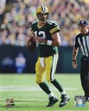 Aaron Rodgers 2014 holding the ball