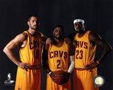 Kevin Love, Kyrie Irving, & LeBron James 2014