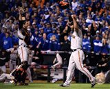 Buster Posey & Madison Bumgarner celebrate winning Game 7 of the 2014 World Series
