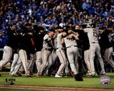 The San Francisco Giants celebrate winning Game 7 of the 2014 World Series