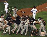 The San Fran Giants celebrate winning Game 7 2014 World Series