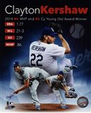 Clayton Kershaw 2014 National League MVP & Cy Young Award Winner Portrait Plus