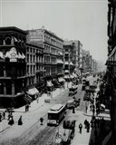 A view of Broadway,New York, New York- early 1900's