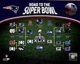 New England Patriots Road the Super Bowl Super Bowl XLIX Champions Bracket